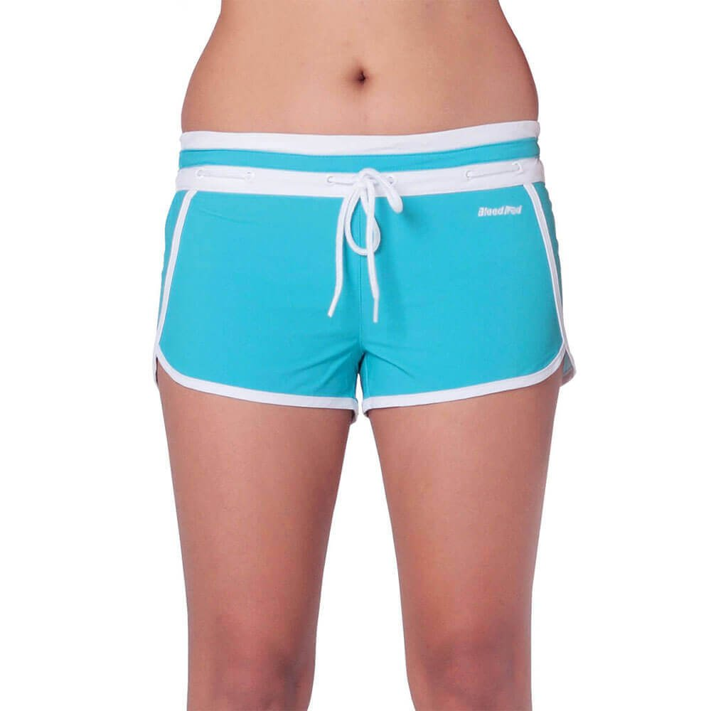 BLUE CANDY SWIM SHORTS FOR WOMEN - Blood Red