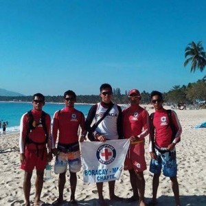 Blood Red, official supplier of rash guards and waterproof dry bags of the Boracay Lifeguards