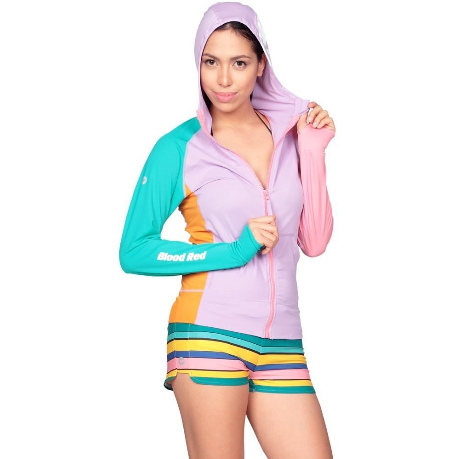 PASTEL POLLIE HOODED RASH GUARD FOR WOMEN
