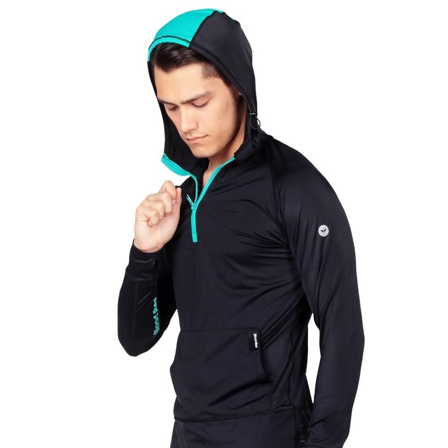 Hooded Rash Guards with UV Sun Protection by bloodredclothing.com