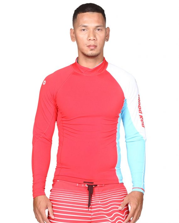 Sun protective clothing with a UPF50+ property and is chlorine resistant for sustainability