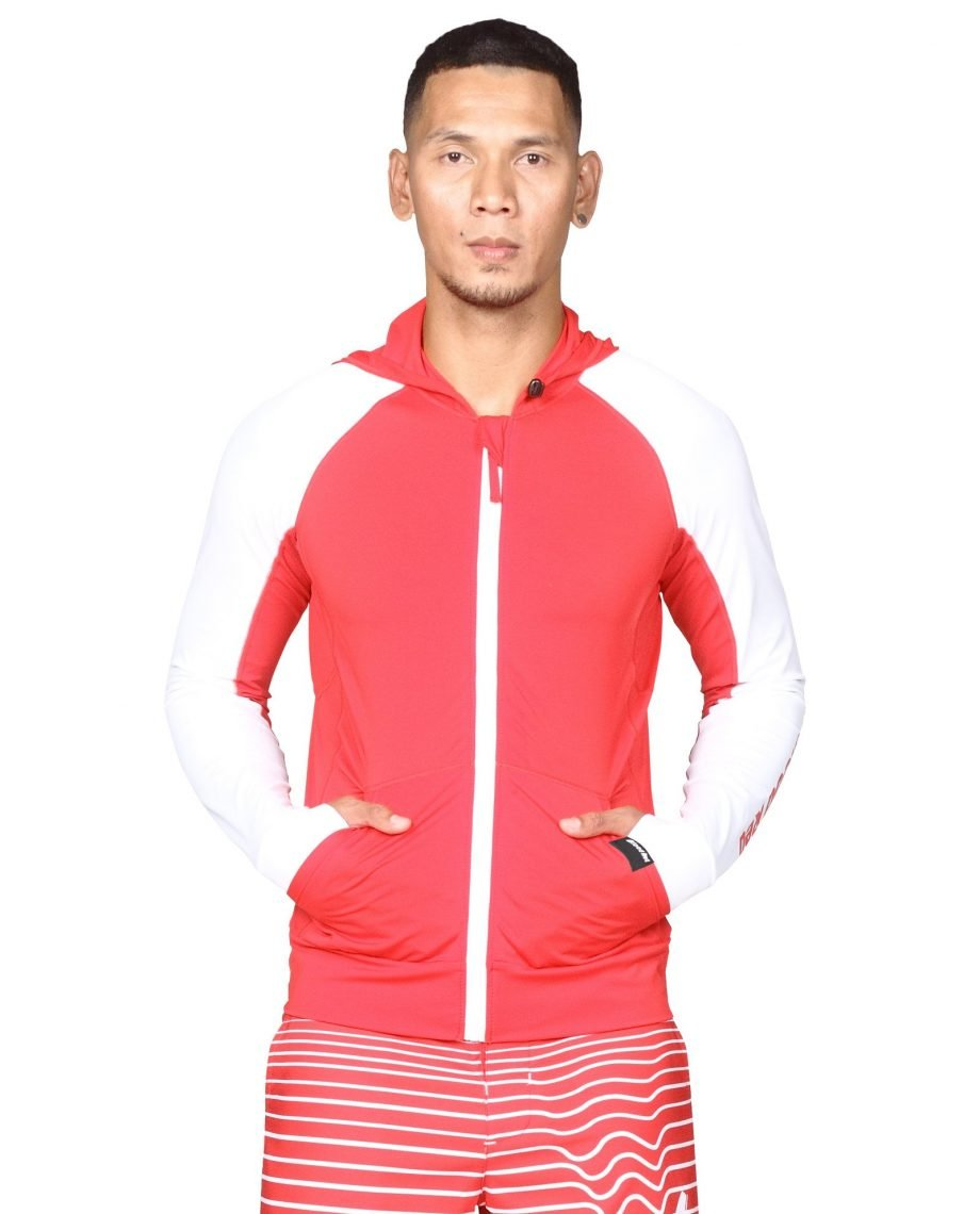 • Top quality hooded rash guards for prolonged and strenuous outdoor activities