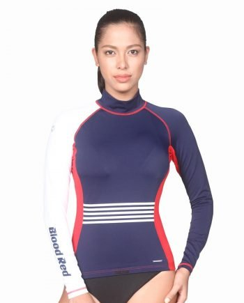 A sun protection swimwear that carries a UPF rating of 50+