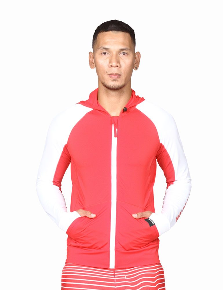 Quality Hooded Rash Guards by Blood Red