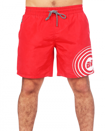 red swim shorts for men