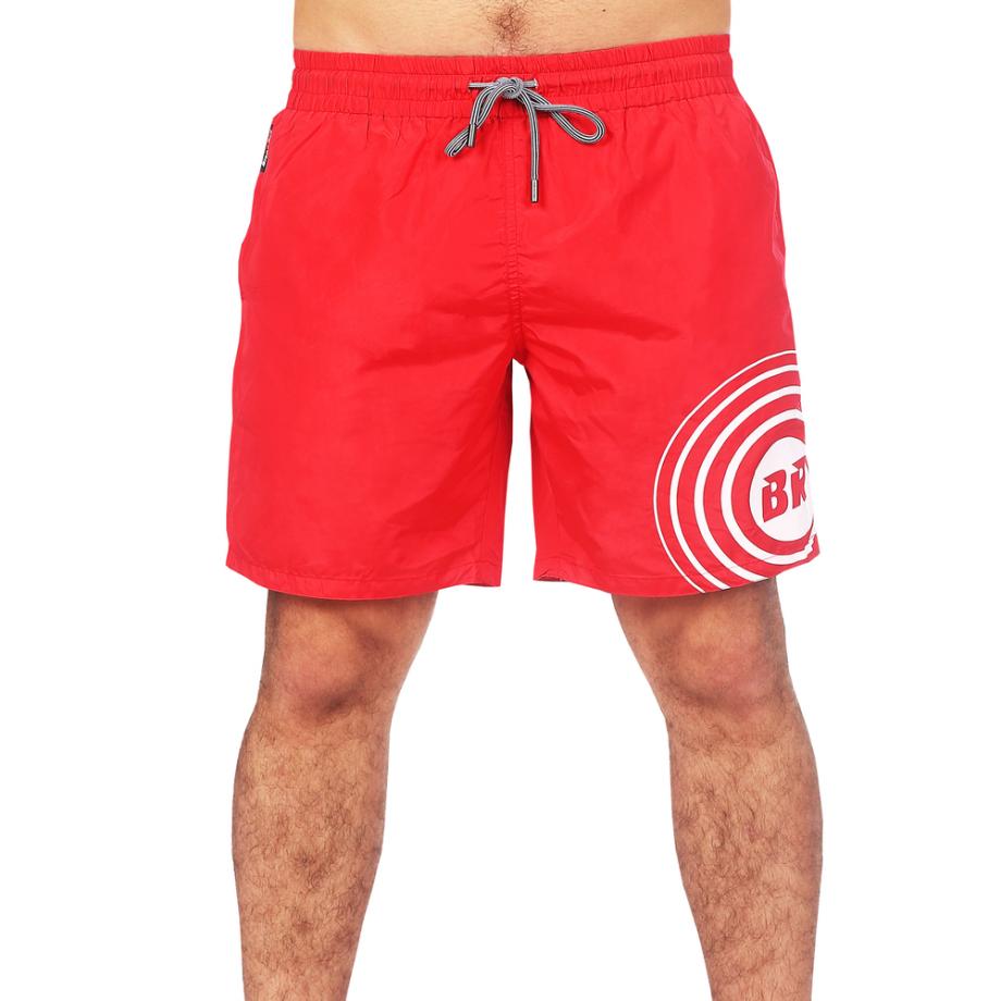 red swim shorts for men