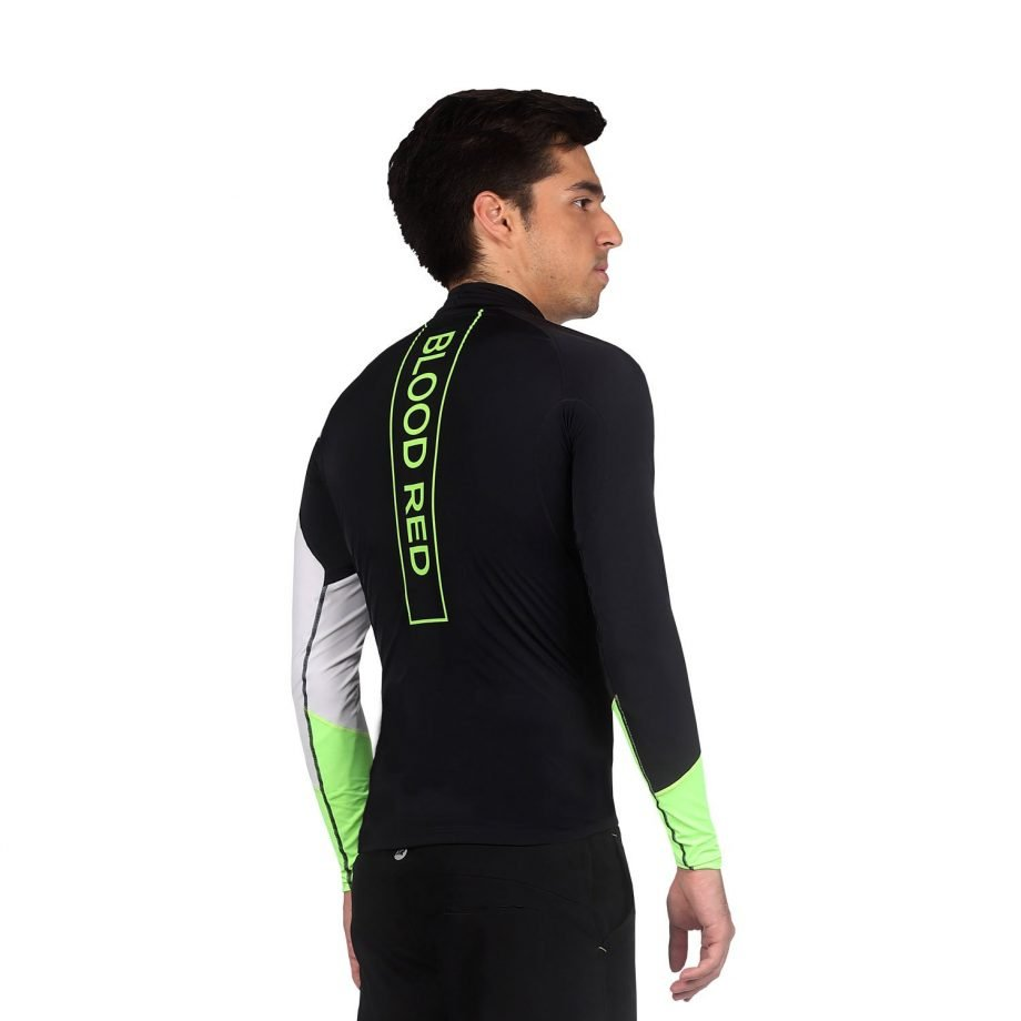 Men's UPF50+ High Neck Long Sleeve Rash Guard - Spirit Front