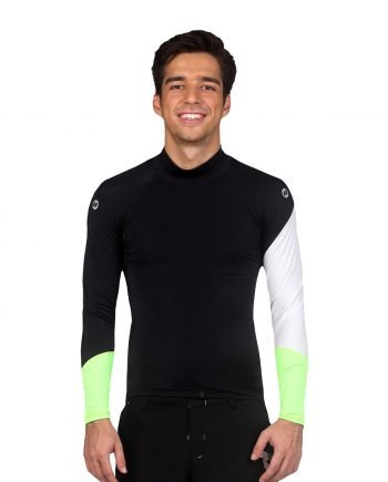 men's long sleeve colour block rash guard