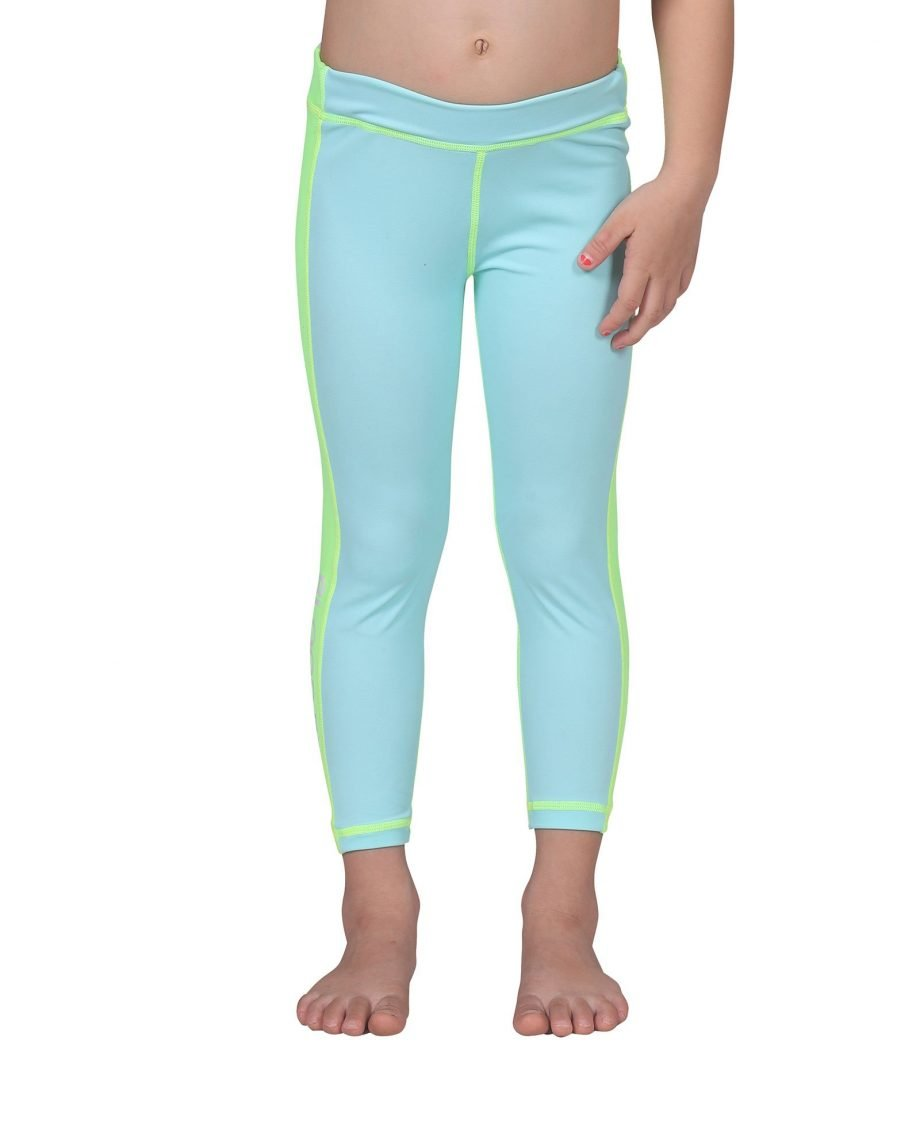 junior UPF50+ leggings with side stripe